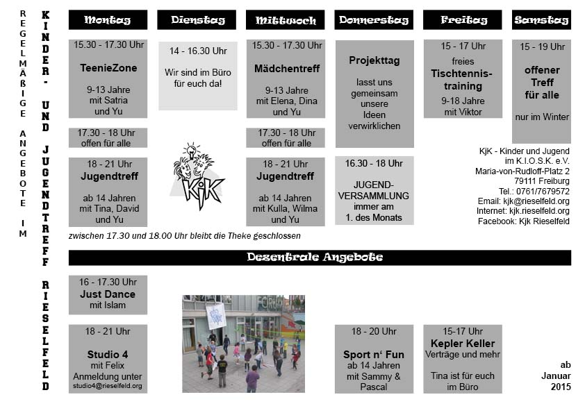 KJK Wochenprogramm