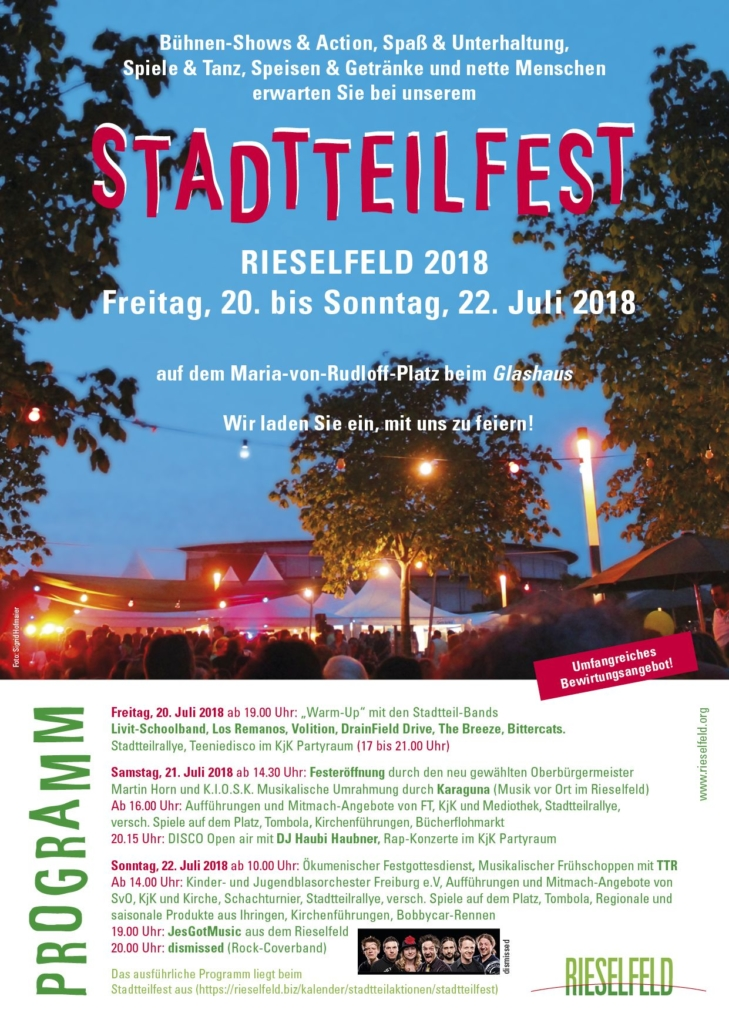 Sommerlaune beim Stadtteilfest Rieselfeld – KIOSK im Rieselfeld e.V.